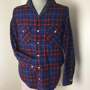 Vintage Woolrich Tartan Plaid Shirt Flap Pockets